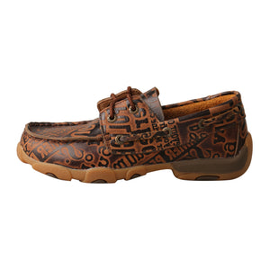 Picture of front of Kid's Twisted X Boat Shoe Driving Moc YDM0043