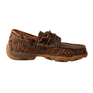 Picture of heel of Kid's Twisted X Boat Shoe Driving Moc YDM0043