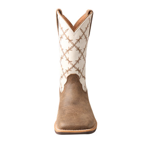 Picture of outside of Kid's Twisted X Top Hand Boot YTH0010