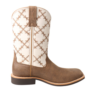 Picture of heel of Kid's Twisted X Top Hand Boot YTH0010