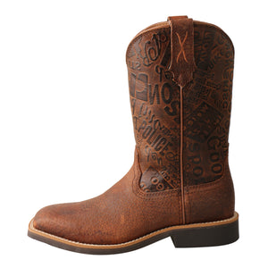 Picture of front of Kid's Twisted X Top Hand Boot YTH0013