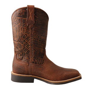 Picture of heel of Kid's Twisted X Top Hand Boot YTH0013
