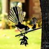 Metalbird - Birds in Trees - Fantail with Baby - Regular
