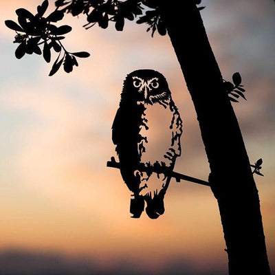 Metalbird - Birds in Trees - Southern Boobook Owl - Regular