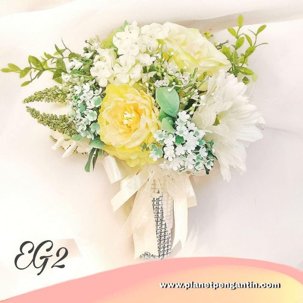 Wedding Flower Bouquet (Bunga Tangan Pengantin) - Earth Green 2