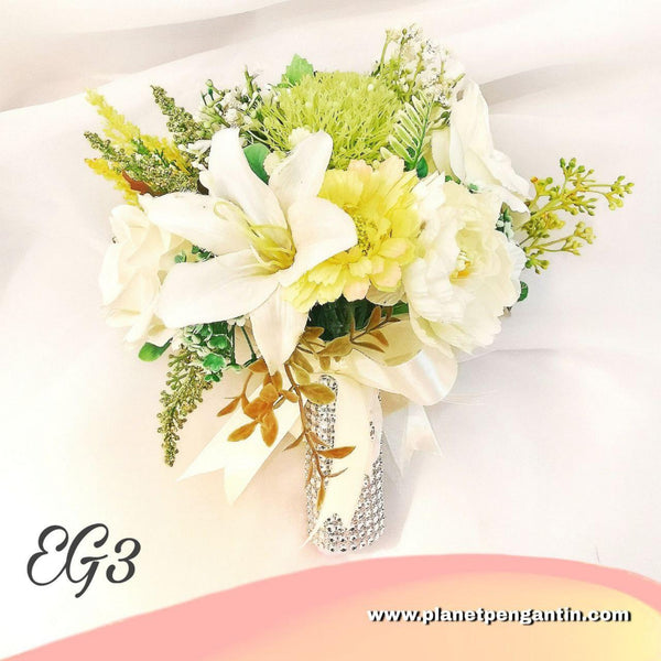 Wedding Flower Bouquet (Bunga Tangan Pengantin) - Earth Green 3