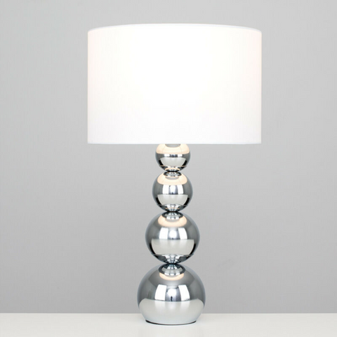 Faux Silk Modern Table Lamp