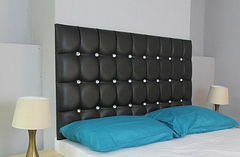 Diamante Leather Headboard 30''