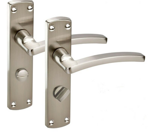 Modern Satin Chrome Door Handles