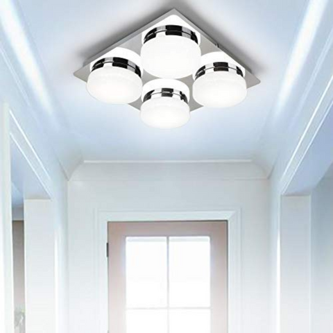 Cool White 4 Way Round Shade Ceiling Light
