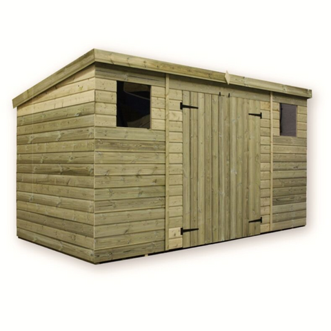 WOODEN TONGUE AND GROOVE PENT SHED
