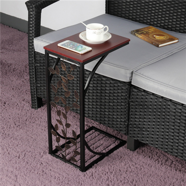 2pcs C Shaped Side Table
