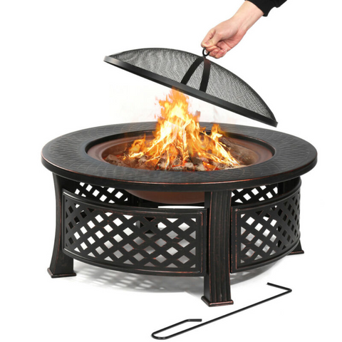 "32"" Round Camping Fire Pit"