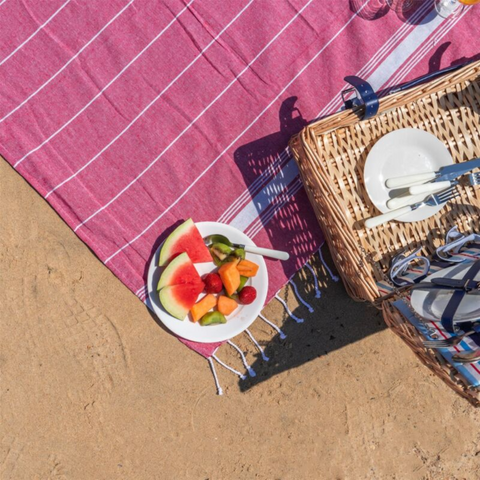 Pink Turkish Beach Cotton Towel