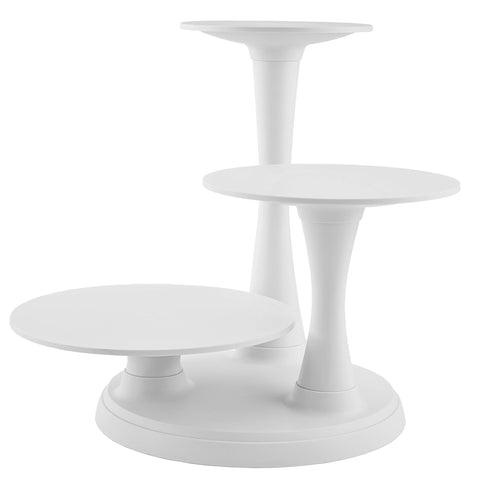 3 Tier Plastic Pillar-like Cake Stand