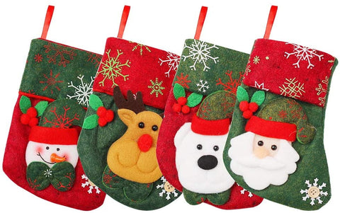 4 Pieces Christmas Stocking Sock, 16CM