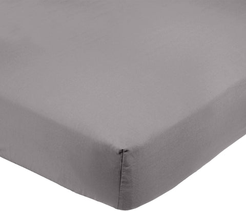 Microfibre Fitted Sheet, Double, Dark Grey