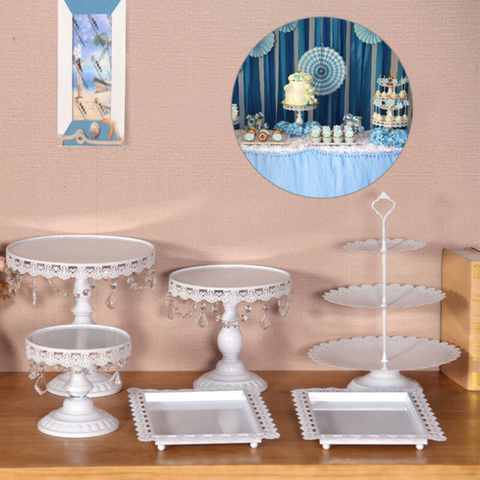 White 6PCS Cake Stand Set