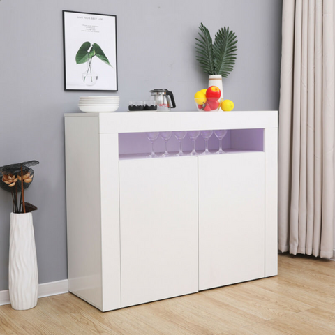 Matt Body & High Gloss White Sideboard