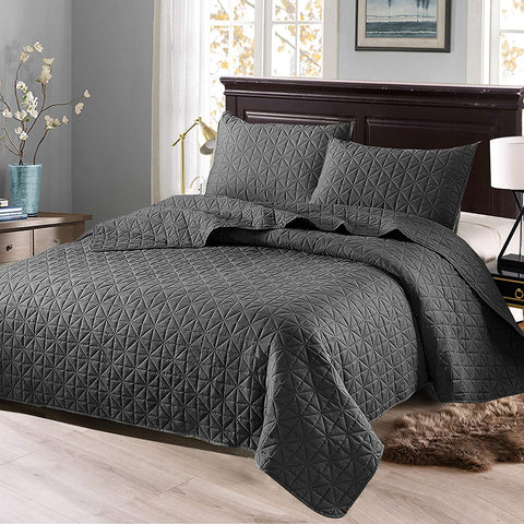 Bedspread/Coverlet/Bed Cover(Solid Steel Grey)