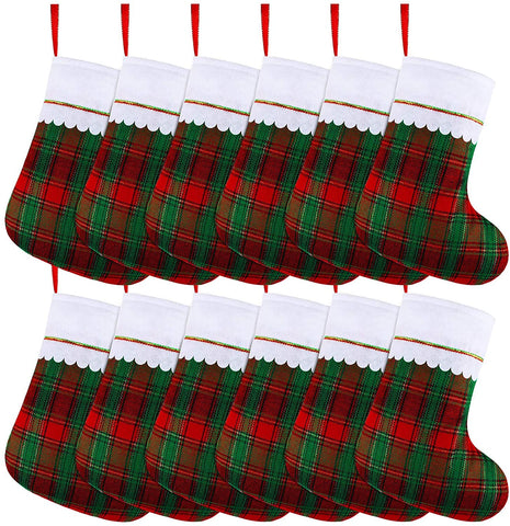 12 Pack 15 Inches Christmas Stockings Red and Green