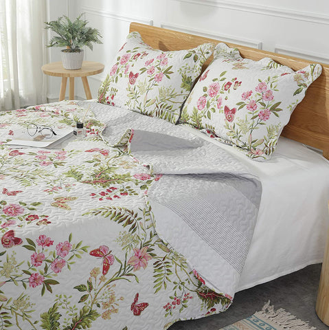 Bedspread Coverlets Bed Throw with 2 Shams