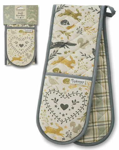 WOODLAND COOKSMART DOUBLE OVEN GLOVES