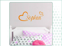 Girls Room Personalized Wall Sticker