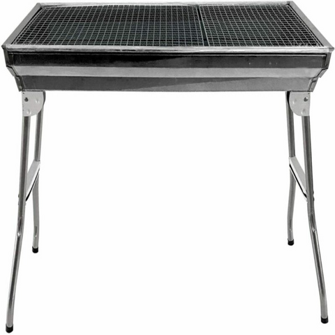 Foldable Large Stainless Steel BBQ Pit
