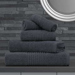 GREY EGYPTIAN COTTON TOWEL SET