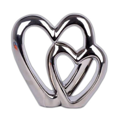 DOUBLE HEART FREE STANDING ORNAMENT
