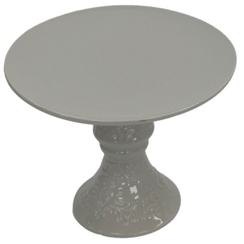 31cm Grey Cake Stand On Pedestal Centerpiece