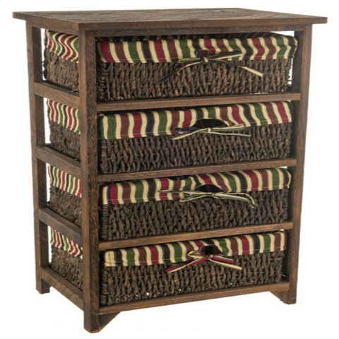 WICKER BASKET HALLWAY STORAGE CHEST