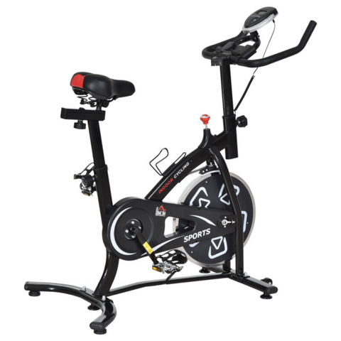 Indoor Training Exercise Bike With LCD Monitor