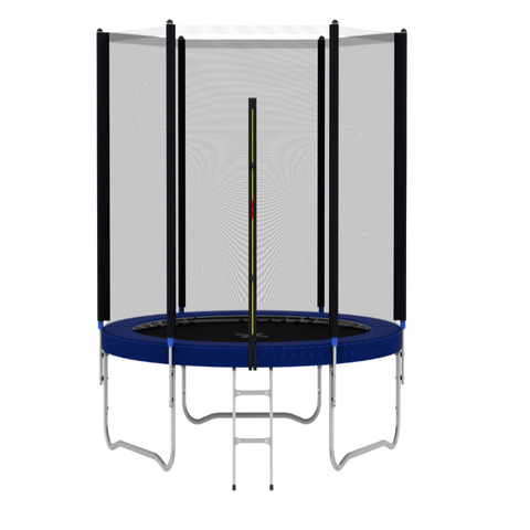 Children Trampoline with Enclosure Spring Cover & Ladder