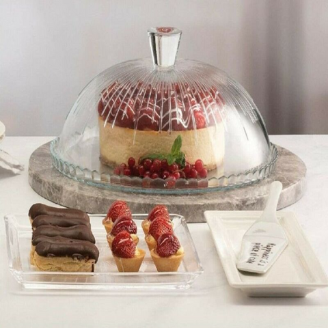 Dome Cake Glass Plate Cover