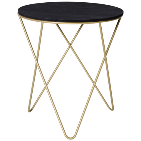 Metal and Wooden Round Tea Table