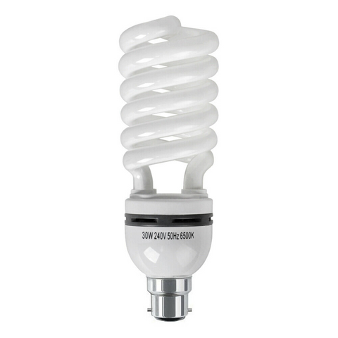 Cool White Spiral Energy Saving Light Bulb