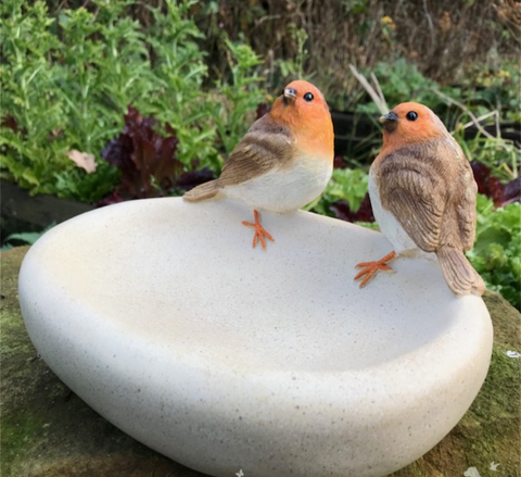 Aged stone effect Bird Bath/feeder