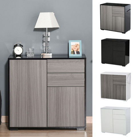 Push Open Cabinet With 2 Drawer & 2 Door