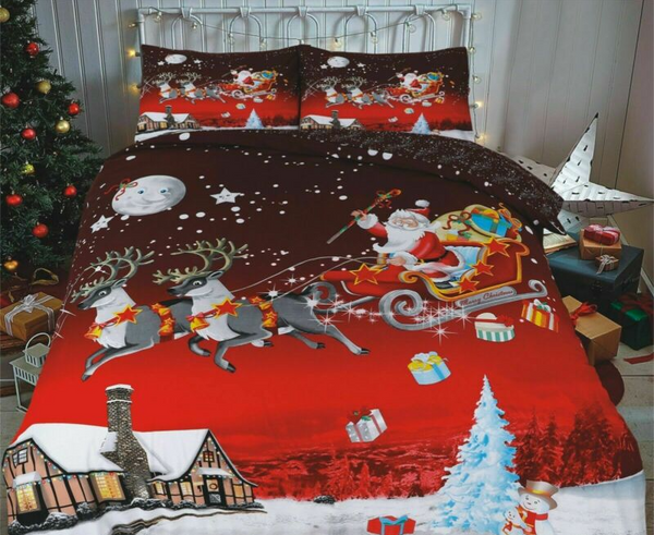 New Santa Christmas Duvet Cover