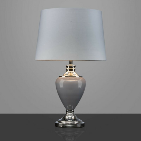 Large Ceramic Table Lamp With Matching Shade