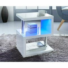 High Gloss 2 Tier Side/Coffee Table