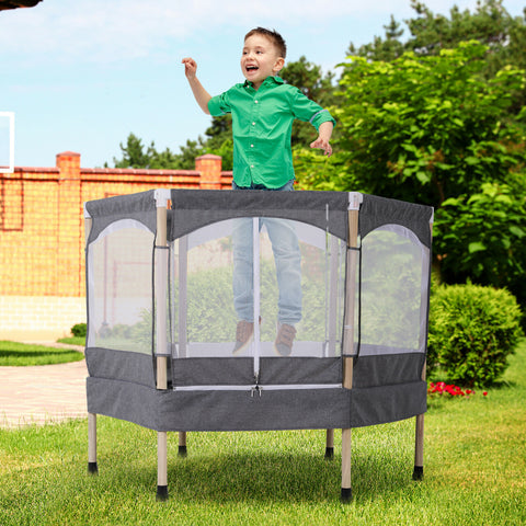 Grey Hexagon Kids Trampoline