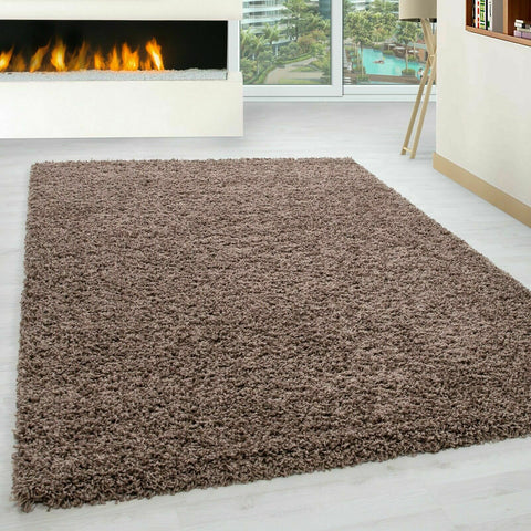 Thick Non Slip Bedroom/Living Room Rug (Dark Beige)
