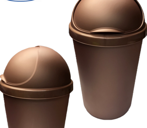 WHITEFURZE ROSE GOLD KITCHEN WASTE BIN