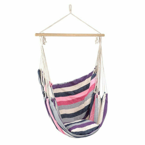 Swing Rope Seat Hammock With Cushion