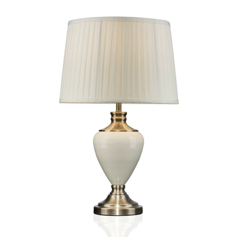 Hepburn Ceramic Table Lamp With Pleated Shade