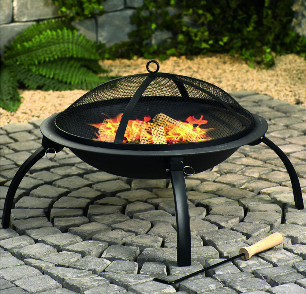 Large folding Steel Fire Pit