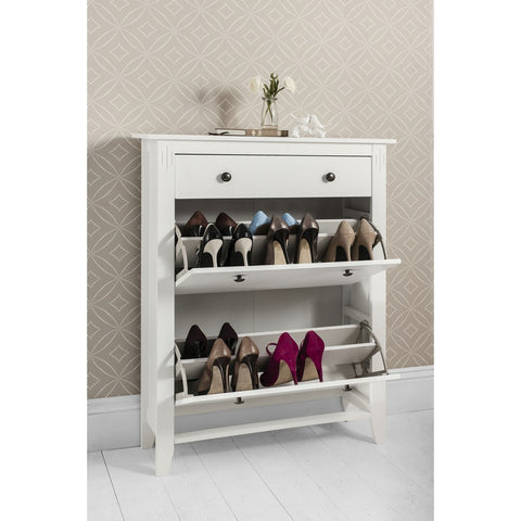 Deluxe Shoe Storage Cabinet with Drawer
